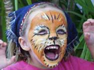 Emily with cat face paint